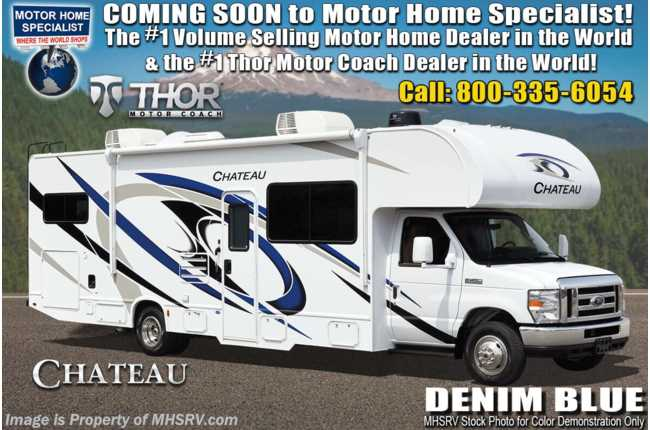 "2021 Thor Motor Coach Chateau 31WV ""Victory Series"" Ford® V-8, W/2 A/Cs & Home Collection™ Interior Decor, MORryde© Suspension"