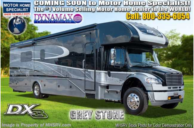2021 Dynamax Corp DX3 37BH Bunk Model Super C W/ Theater Seats, Cab Over & Chrome Pkg