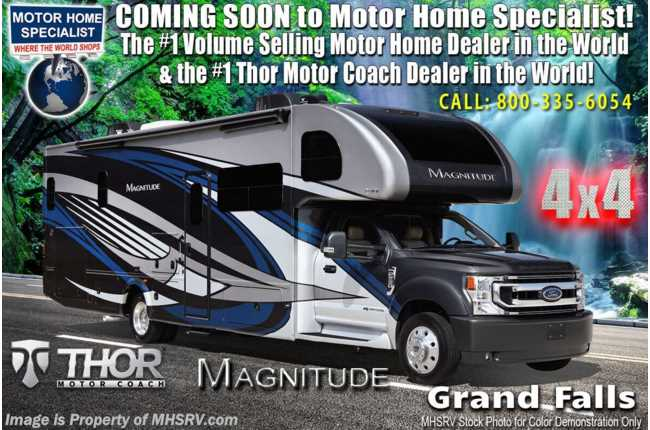 2021 Thor Motor Coach Magnitude XG32 4x4 330HP Diesel Super C W/ Child Safety Tether & Theater Seats