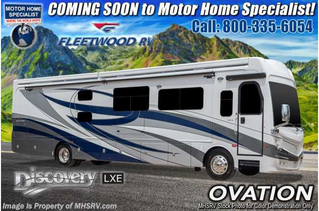 2021 Fleetwood Discovery LXE 40G Bunk Model W/ Theater Seats, OH Loft, Tech Pkg &  Oceanfront Collection