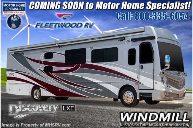 2021 Fleetwood Discovery LXE 40G Bunk Model W/ Theater Seats, OH Loft, King, Tech Pkg & 2nd Roof Awning