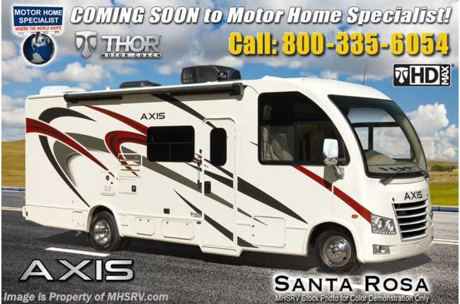 2021 Thor Motor Coach Axis 24.1 RUV W/ Stabilizers, Pwr Driver Seat, Solar, Home Collection