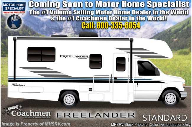 2021 Coachmen Freelander  21RS W/ OH Loft, Back-Up Cam & Awning