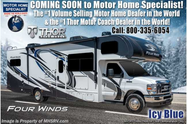 2021 Thor Motor Coach Four Winds 31B W/ Home Collection, 2 A/Cs, Ext TV, Solar & W/D Prep, MORryde© Suspension