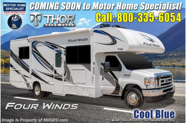 2021 Thor Motor Coach Four Winds 28Z W/ Theater Seats, Home Collection, Solar, Ext TV, Bedroom TV