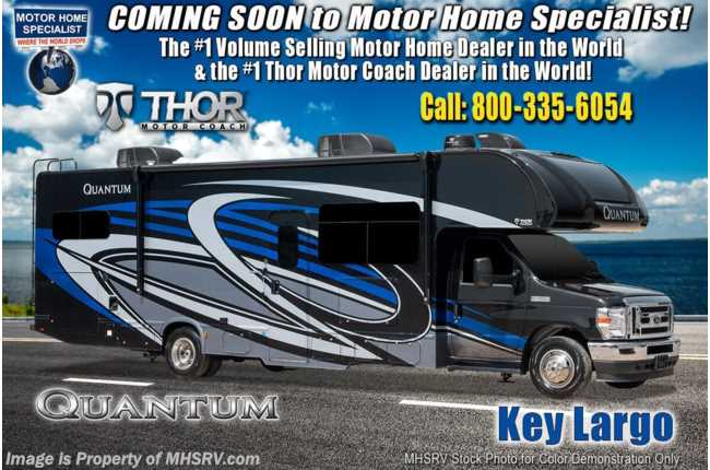 "2021 Thor Motor Coach Quantum LF31 Bunk Model W/ 2 A/Cs, FBP, Solar, Ext TV, Res Fridge, 40"" TV, MORryde© Suspension"