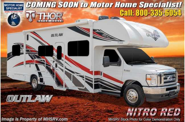 2021 Thor Motor Coach Outlaw Toy Hauler 29J Toy Hauler Class C RV W/ Ext TV, WiFi, Solar