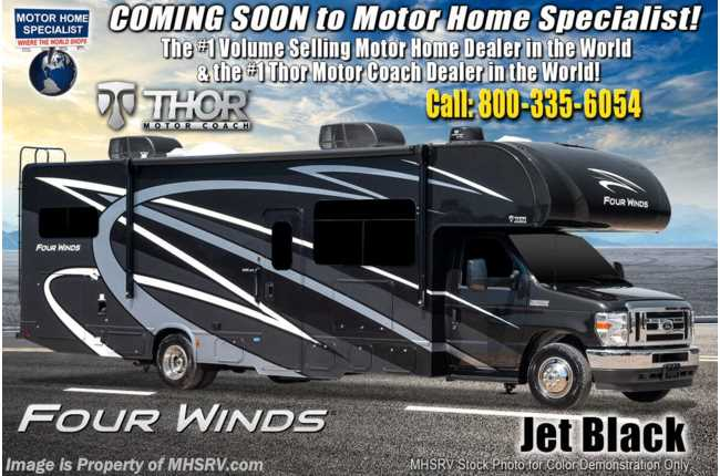 2021 Thor Motor Coach Four Winds 31E Bunk Model W/ MORryde© Suspension, 2 A/Cs, Ext TV, Solar & FBP
