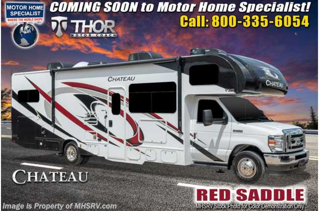 2021 Thor Motor Coach Chateau 31E Bunk Model W/ MORryde© Suspension, 2 A/C, Exterior TV, Touchscreen Radio & Backup Cam