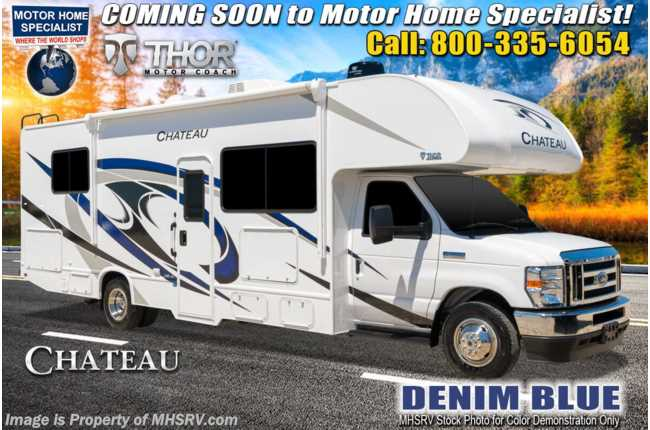 2021 Thor Motor Coach Chateau 28Z W/ Theater Seats, Home Collection, Solar, Ext TV & Bedroom TV