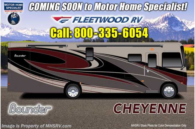 2021 Fleetwood Bounder 33C W/ Theater Seats, WiFi, Sumo Springs, W/D & Collision Mitigation