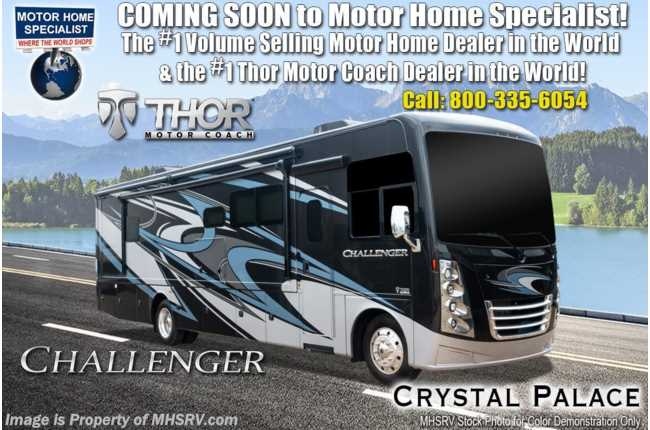 2021 Thor Motor Coach Challenger 37DS 2 Full Bath Bunk Model W/ Theater Seats, King, OH Loft, Ext TV