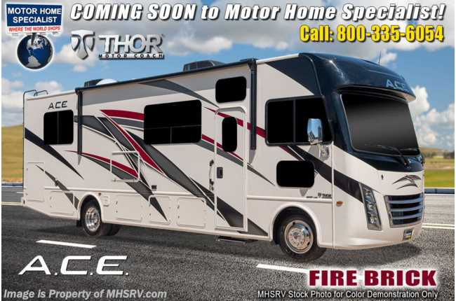 2021 Thor Motor Coach A.C.E. 32.3 Pet Friendly Bunk Model RV W/ King, 2 A/Cs & Solar