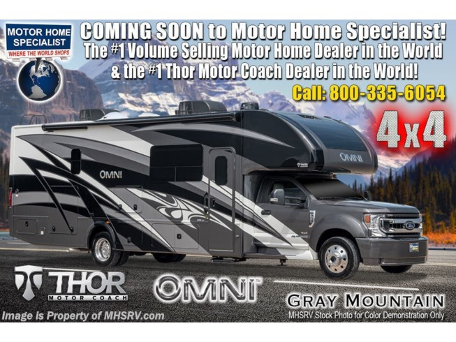 New 2021 Thor Motor Coach Omni RB34 available in Alvarado, Texas