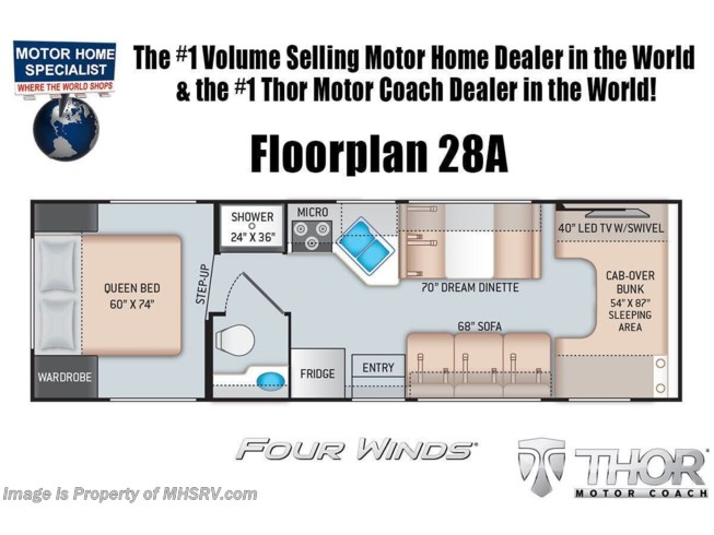 New 2022 Thor Motor Coach Four Winds 28A available in Alvarado, Texas