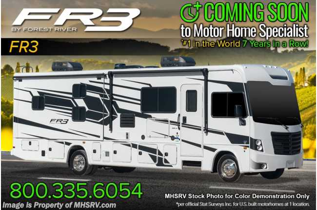 2021 Forest River FR3 32DS Bunk Model RV W/ OH Loft, King Bed, WiFi/Solar Pkg