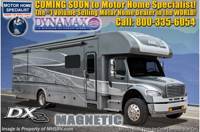 2021 Dynamax Corp DX3 34KD Super C W/ Cab Over, Theater Seats, W/D & Chrome Pkg