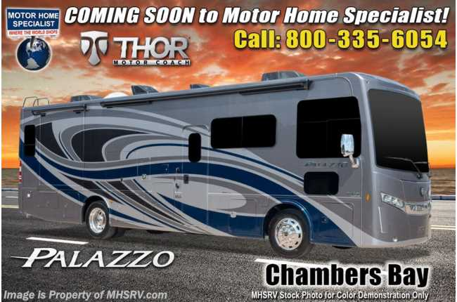 2021 Thor Motor Coach Palazzo 33.6 Diesel Pusher W/ 300HP, OH Loft, Studio Collection