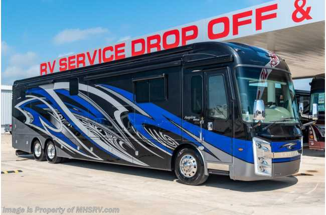 2020 Entegra Coach Aspire 44R Bath & 1/2 Bunk Model W/ Aqua Hot, 450HP, Onan Gen, 3 A/Cs Consignment RV