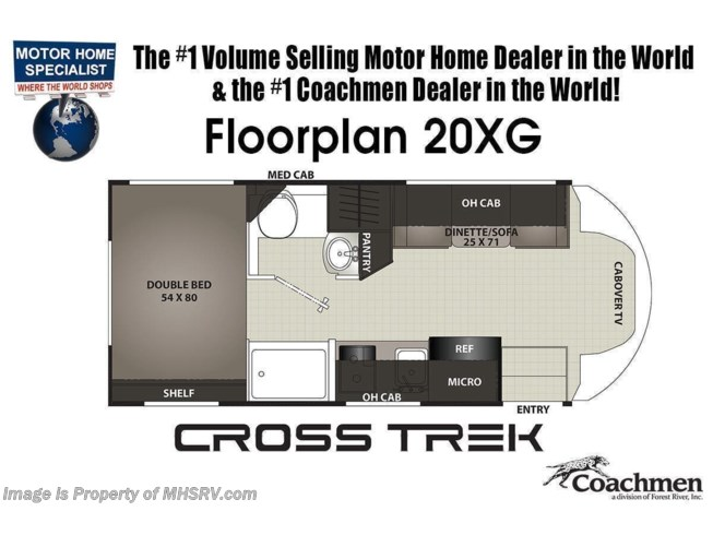 Floorplan of 2021 Coachmen Cross Trek 20XG