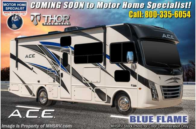 2021 Thor Motor Coach A.C.E. 29.5 Pet Friendly RV W/ Home Collection, Theater Seats, King Bed, 2 A/Cs & Solar