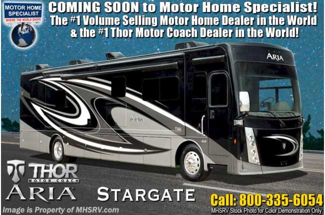 2021 Thor Motor Coach Aria 4000 2 Full Bath, Bunk Model 360HP Diesel RV W/ King Bed, Studio Collection