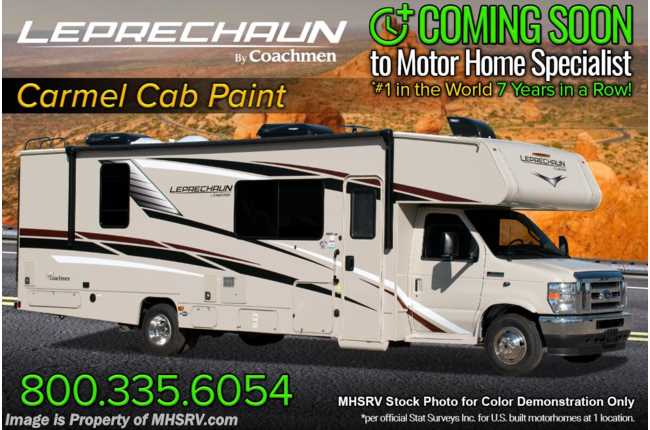 2021 Coachmen Leprechaun 300BH Bunk Model W/ Backup Monitor, Dual A/C & Painted Cab