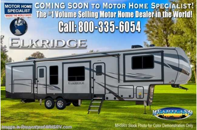 2021 Heartland RV ElkRidge ER 38 MB Bunk Model W/ Bedroom TV, Cold Climate Control Pkg, Booth Dinette