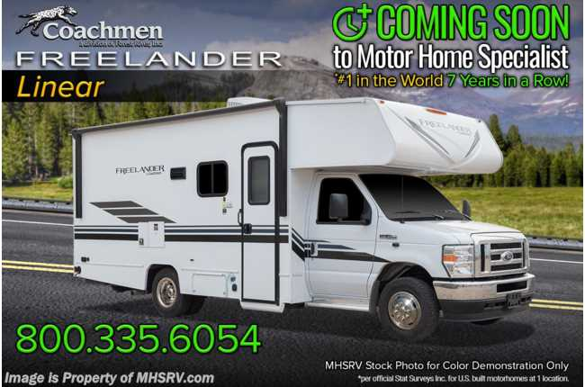 2021 Coachmen Freelander  22XG Ford® V-8, Bedroom/Garage Cargo System, Back-Up Cam, Azdel™