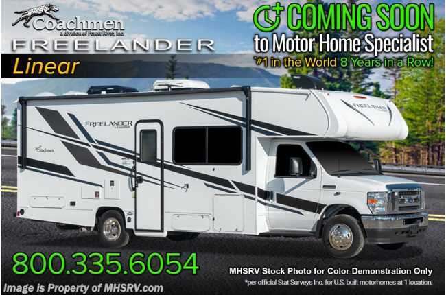 2021 Coachmen Freelander  26DS W/ Recliners, Stabilizer Jacks, Heated Mirrors, Exterior Entertainment, CRV Pkg