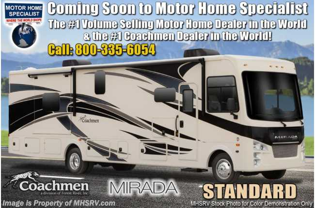 2022 Coachmen Mirada 315KS W/ Theater Seats, King Bed, Solar, Stack W/D, Ext TV & More!
