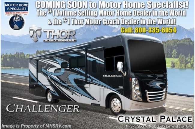 2021 Thor Motor Coach Challenger 35MQ W/ King Bed, OH Loft, Exterior TV