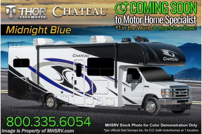2022 Thor Motor Coach Chateau 31W W/ MORryde© Suspension, 2 A/Cs, Solar, Back Up Cam & Exterior TV