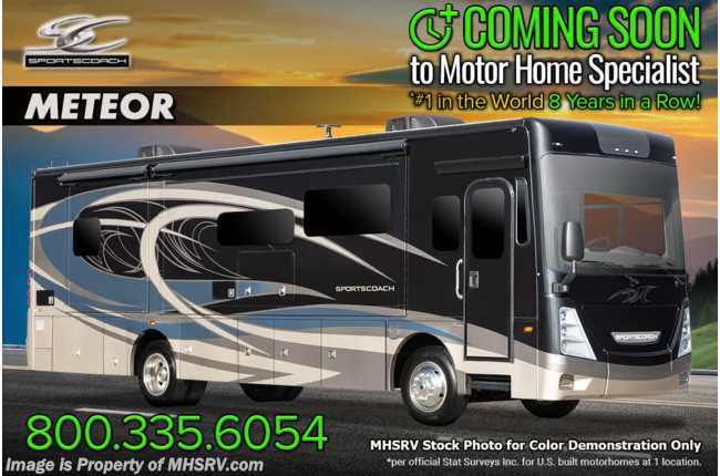 2021 Coachmen Sportscoach SRS 354QS W/ Theater Seats, W/D, King Bed, Fiberglass Roof, Ext TV, Power Loft & More!