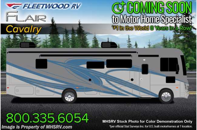 2021 Fleetwood Flair 34J Bunk Model W/ Theater Seats, Oceanfront Collection, 15K BTU A/C, FBP & King Bed