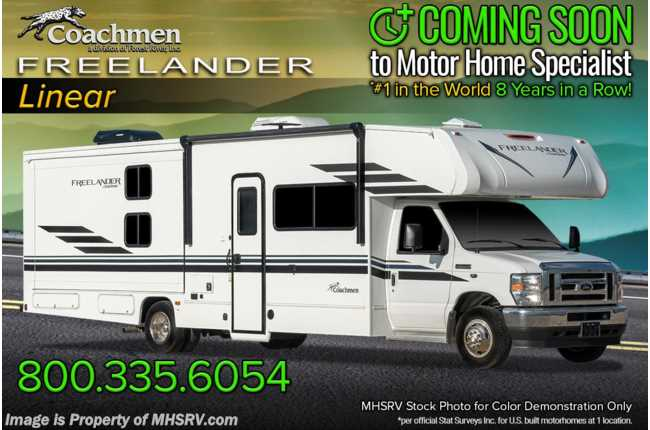 2021 Coachmen Freelander  30BH Bunk Model W/ Dual A/Cs, Awning, CRV Pkg & Touch Screen Radio w/ Backup Cam