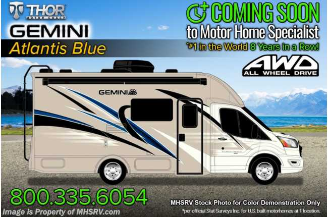2022 Thor Motor Coach Gemini 23TW All-Wheel Drive (AWD) Luxury B+ EcoBoost® Edition W/ 15K BTU A/C & Home Collection