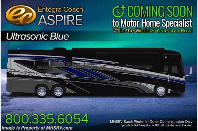 2022 Entegra Coach Aspire 44R Bath & 1/2 Bunk Model  W/ Valid Digital Dash, Solar, Stonewall Gray & Satellite
