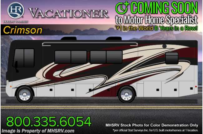 2022 Holiday Rambler Vacationer 36F 2 Full Bath Bunk Model W/ Oceanfront Collection, Steering Stabilizer Sys, W/D, Satellite & Collision Mitigation