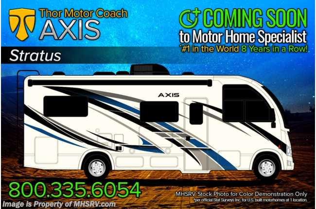 2022 Thor Motor Coach Axis 24.1 W/ Home Collection, Stabilizers, Solar, King Conversion