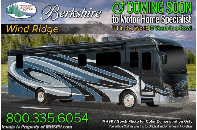 2021 Forest River Berkshire 40F 2 Full Bath Bunk Model Diesel Pusher RV W/ Theater Seats, 360HP, King, Satellite, Stack W/D