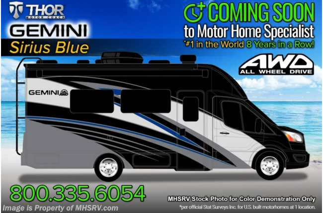 2022 Thor Motor Coach Gemini 23TW All-Wheel Drive (AWD) Luxury B+ EcoBoost® Edition W/ FBP, 15K BTU A/C