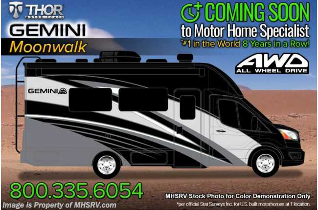 2022 Thor Motor Coach Gemini 23TW All-Wheel Drive (AWD) Luxury B+ EcoBoost® Edition W/ FBP, Upgraded Wood & 15K BTU A/C