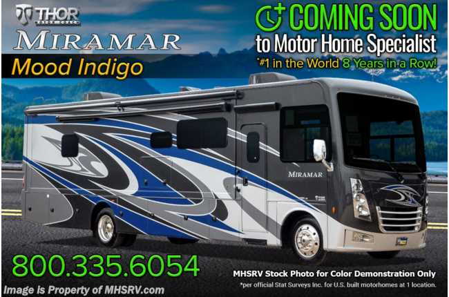2022 Thor Motor Coach Miramar 37.1 2 Full Bath Bunk Model W/ Dual Pane Windows, Electric Fireplace, FBP