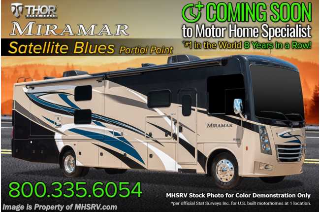 2022 Thor Motor Coach Miramar 35.2 RV W/ Partial Paint, Onan Gen, Firefly System & Patio Awning
