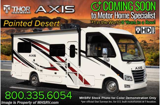 2022 Thor Motor Coach Axis 25.6 W/ Home Collection, Solar Charging System, Bedroom TV, OH Loft