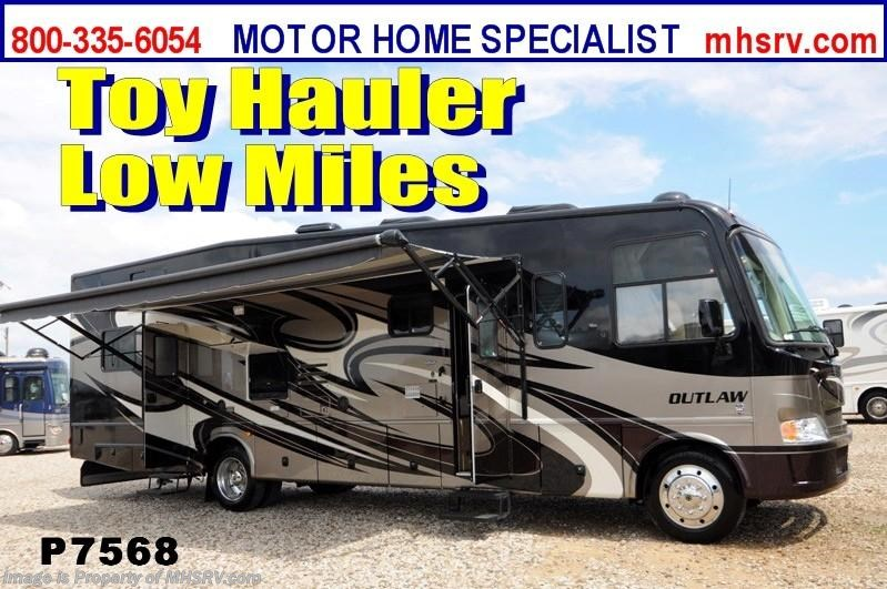 Used 2012 thor motor coach outlaw toy hauler rv for sale w for Motorized toy hauler rv for sale