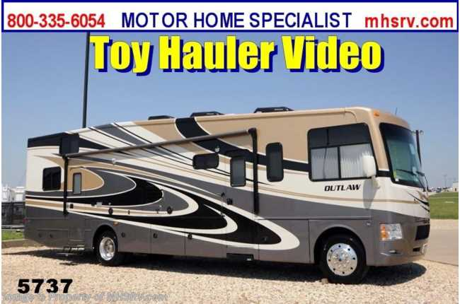 New 2014 Thor Motor Coach Outlaw Model 37ls W Slide Toy Hauler Rv