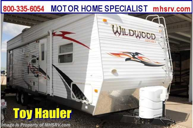 Used 2010 Forest River Wildwood Sport 29fbsrv Toy Hauler Rv With