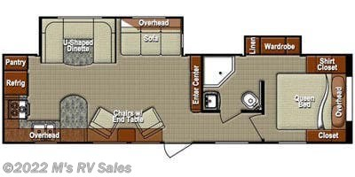 Floorplan of 2014 Gulf Stream Canyon Trail Luxury 302RKS